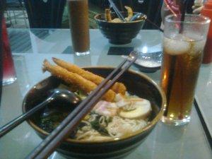 """""""ebi tempura shoyu raamen & sweet ocha"""""""